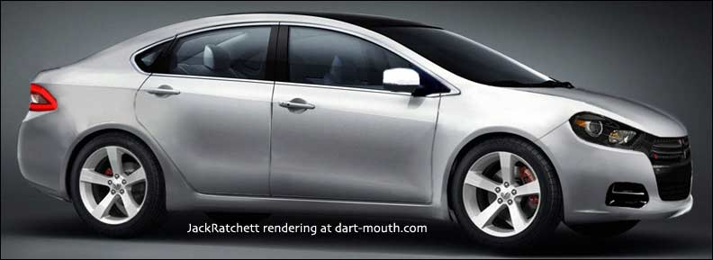 Dodge Dart rendering